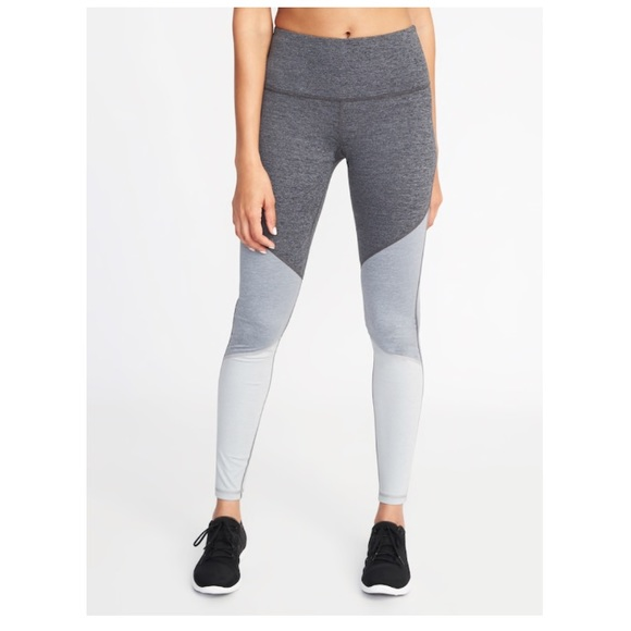 0870b1dd0cdf7 Old Navy Pants | Midrise Colorblock Compression Leggings | Poshmark